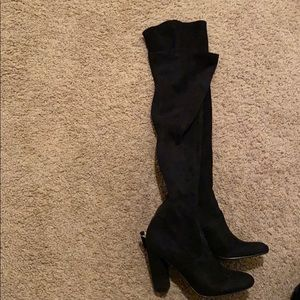 Over the knee boots suede